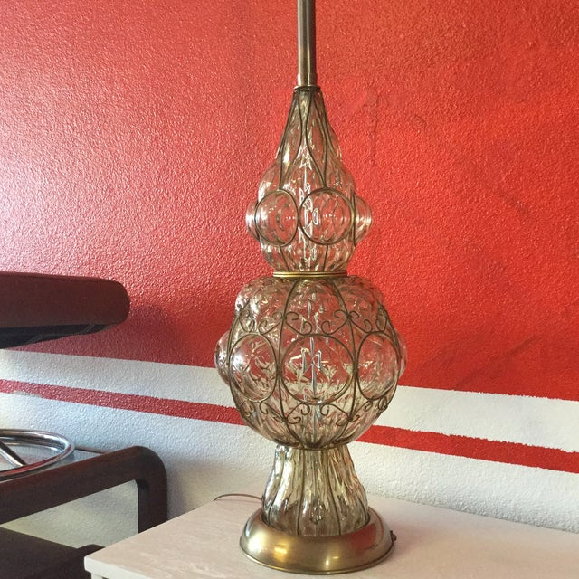 Murano Glass Lamp by Marbro Lamp Company - Image 5 of 6