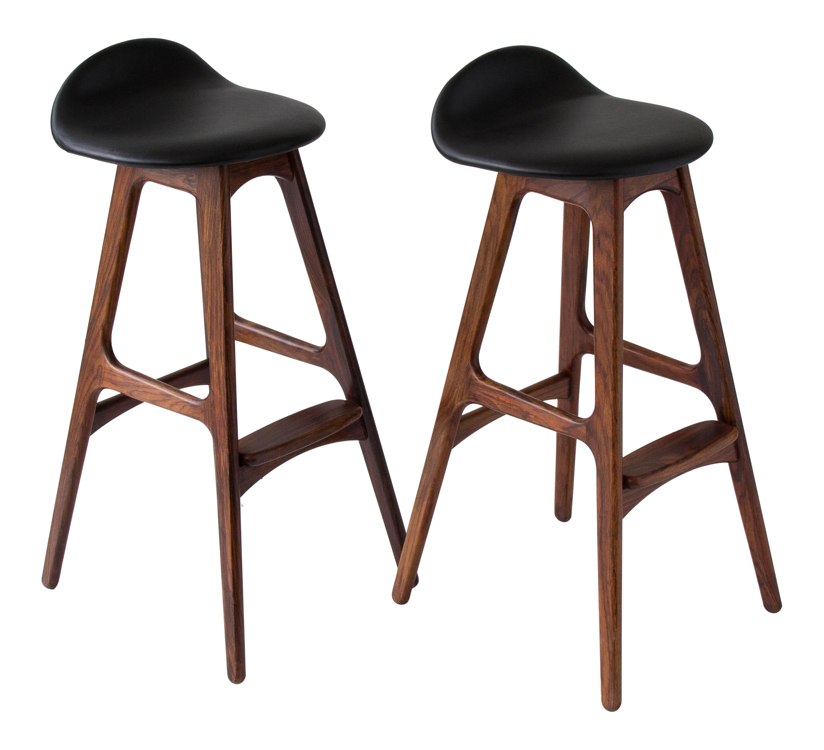 Luxury Real Leather Bar Stools