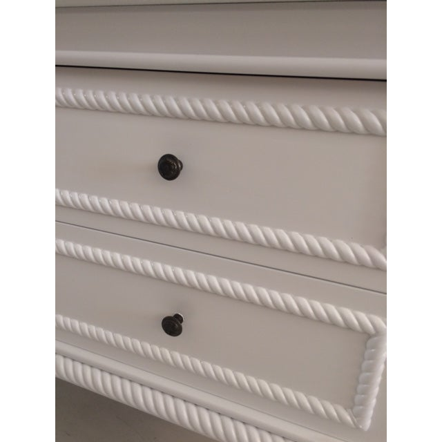 1960s Hollywood Regency White Commode With Tassel Legs For Sale In West Palm - Image 6 of 13