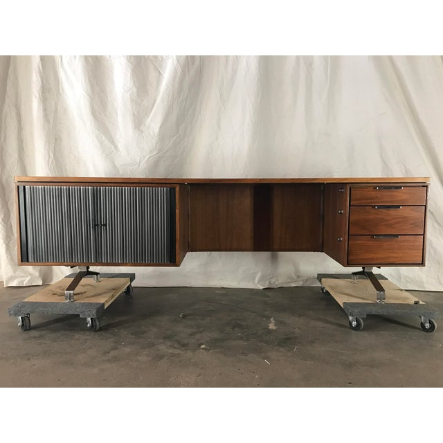 Imperial Staggered Desk & Credenza For Sale - Image 5 of 11