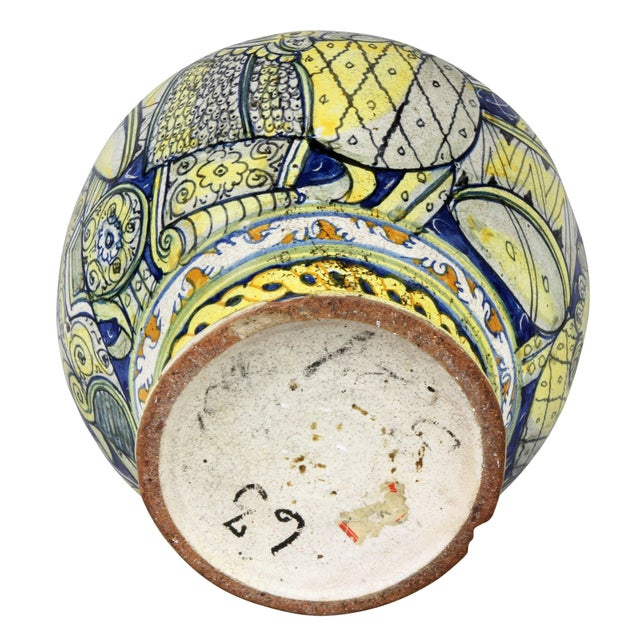 Roman Majolica Pot For Sale - Image 9 of 10
