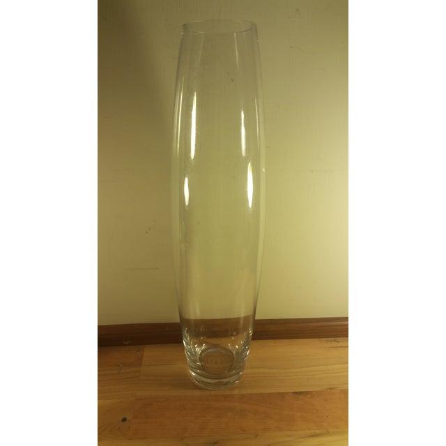 Large Clear Glass Bullet Vase - Image 2 of 5