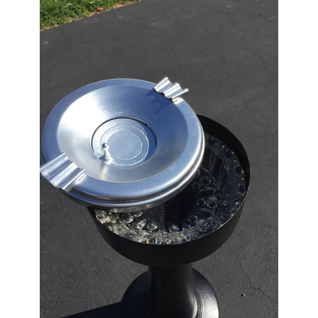 Vintage Industrial Ashtray Smoking Stand - Image 8 of 8