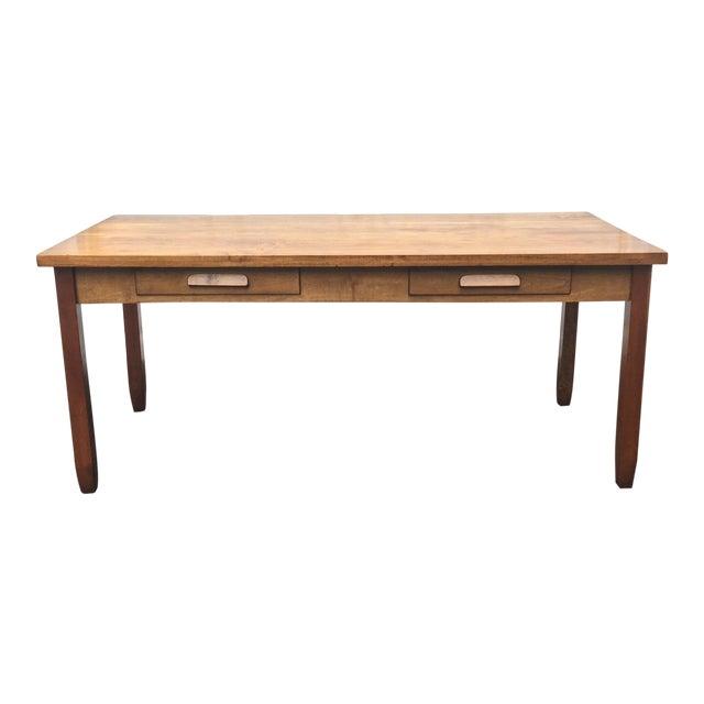 Large Vintage Modern 2-Drawer Desk - Image 1 of 11