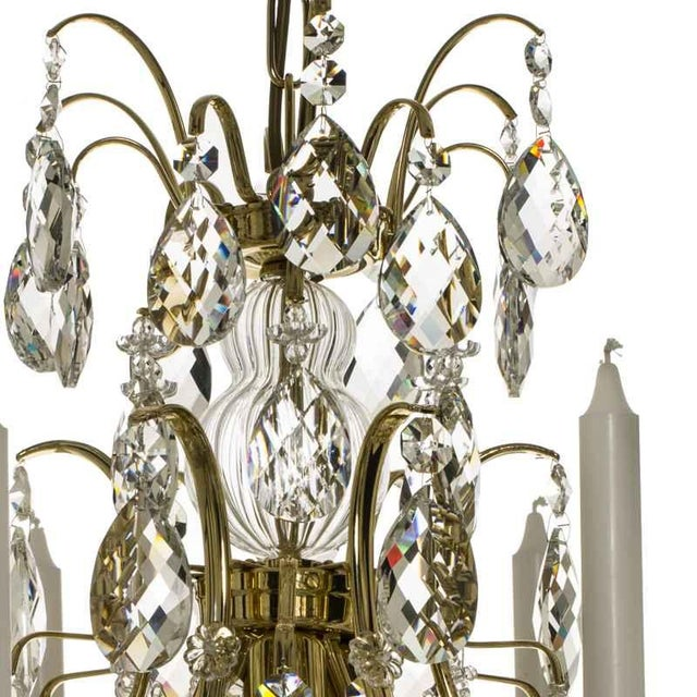 Baroque chandelier 6 candle brass chairish baroque chandelier 6 candle brass image 3 of 5 aloadofball Image collections
