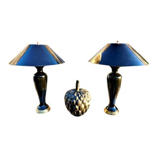 Vintage Art Deco Frederick Cooper Tyndale Table Lamps - a Pair For Sale