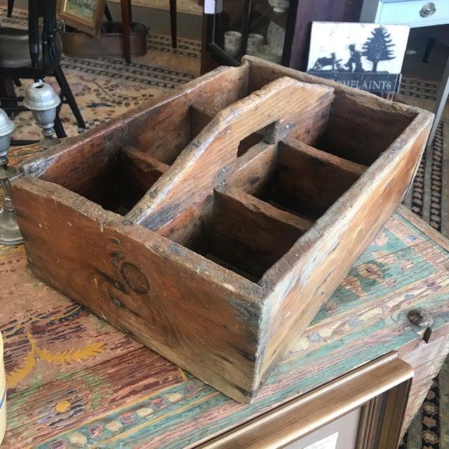 Vintage Rustic Bottle Carrier For Sale - Image 4 of 5