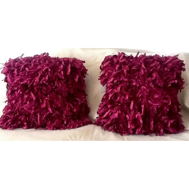 """Burgundy """"Confetti"""" Pillows - A Pair - Image 2 of 5"""