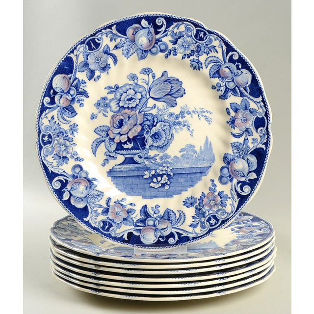 Ceramic Royal Doulton Pomeroy Blue Dinner Plate - Set of 8 For Sale - Image 7 of 7