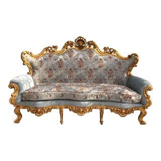 1940s Italian Rococo Style Sofa For Sale