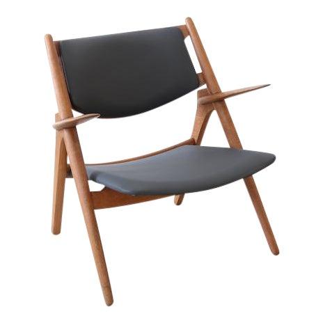 Hans J. Wegner Danish Modern Sawbuck Chair Ch28 For Sale