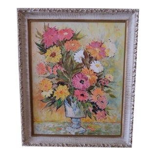 "1929 ""Spanish Bouquet"" Oil Painting For Sale"