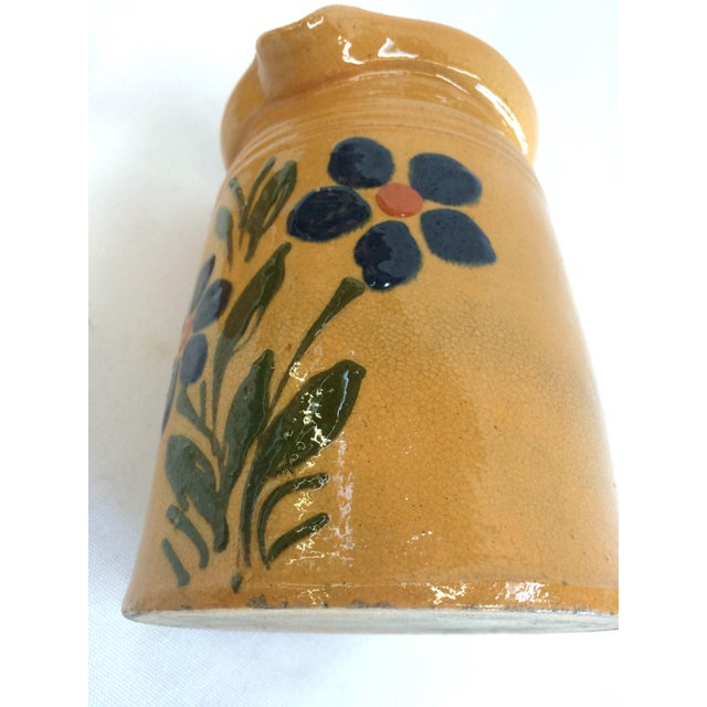 1920s French Yellow Ware Pitcher - Image 7 of 7