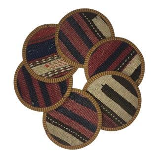Rug & Relic Kilim Coasters Set of 6 | Naz