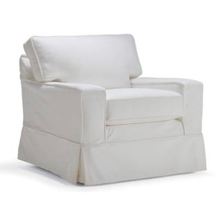 Mitchell Gold Alex Swivel Chair White Slipcover Preview