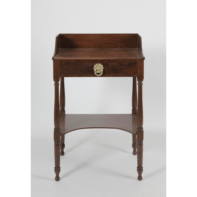 Metal 19th Century American Federal MahoganyTable For Sale - Image 7 of 7