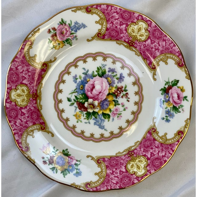 Rococo Vintage Royal Albert Lady Carlyle Bread & Butter Plates - Set of 8 For Sale - Image 3 of 7