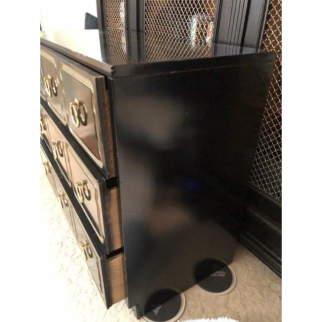 Black Vintage Dorothy Draper Espana Style Chest For Sale - Image 8 of 10
