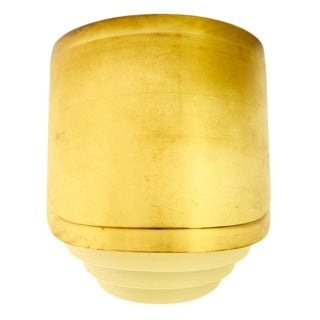 Vintage Brass and Mirror Warren Platner Custom Wall Sconce For Sale