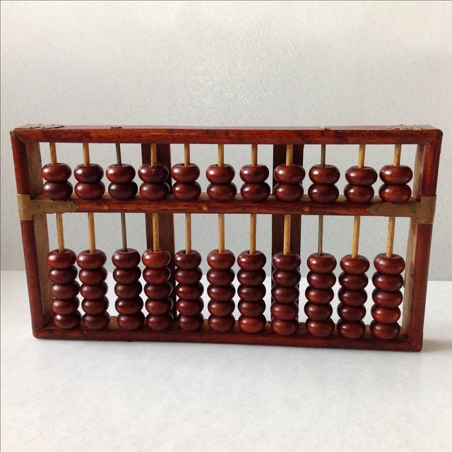 Vintage Asian Wood and Brass Abacus - Image 3 of 6