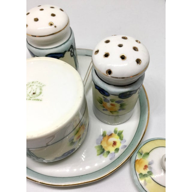 Antique 1910s Noritake Salt and Pepper Set - 4 Pieces For Sale - Image 10 of 13