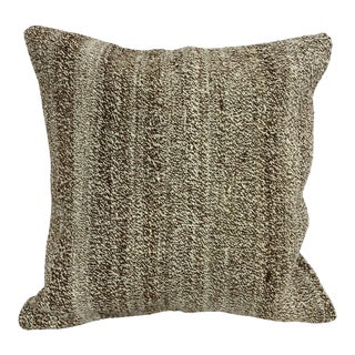 Turkish Handwoven Antique Kilim Pillow Cover For Sale