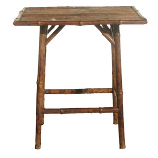 19th C. English Bamboo Table For Sale