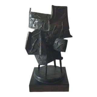 Morris Brose Abstract Modern Bronze Sculpture For Sale