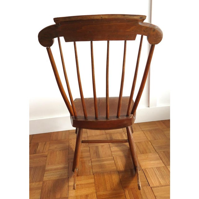Wood Antique Primitive Rocking Chair For Sale - Image 7 of 8