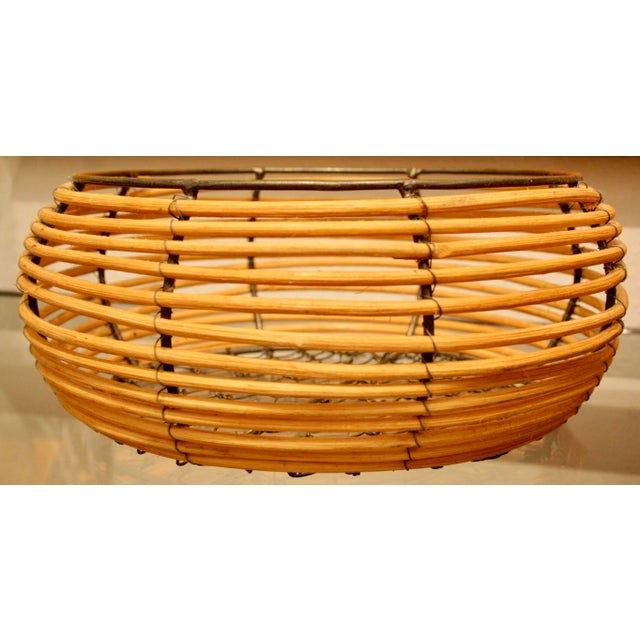 Metal Organic Modern Woven Basket in the Style of Gabriella Crespi For Sale - Image 7 of 7