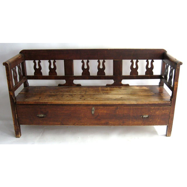 Antique Swedish Bench For Sale - Image 10 of 10