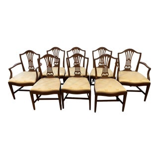 Early 20th Century Chippendale Mahogany Dining Chairs - Set of 8 For Sale