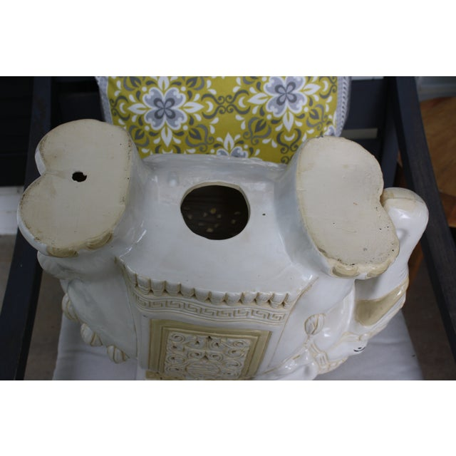 Mid-Century Elephant Garden Seat Stool - Image 9 of 10