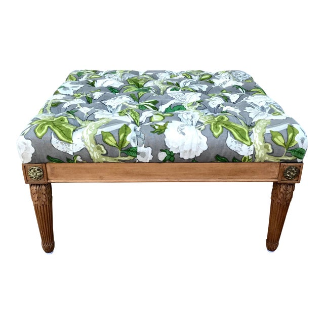 1960s Vintage Upholstered Ottoman For Sale