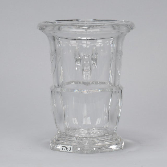 French Large Early 20th Century French Crystal Ice Bucket For Sale - Image 3 of 8