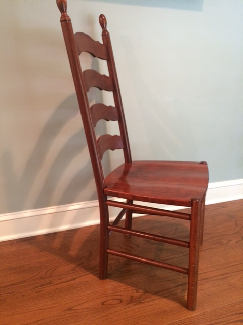 Beau Country Solid Wood Ladderback Chairs   Set Of 4 For Sale   Image 3 Of 6