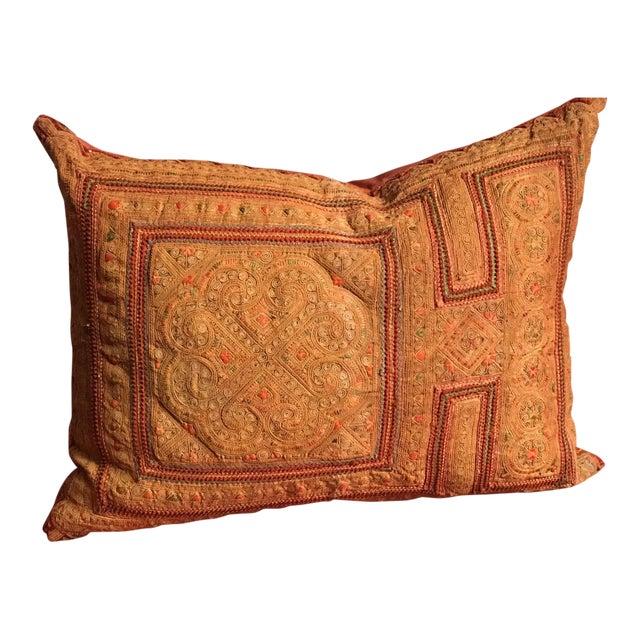 Vintage Thai Applique Pillow For Sale