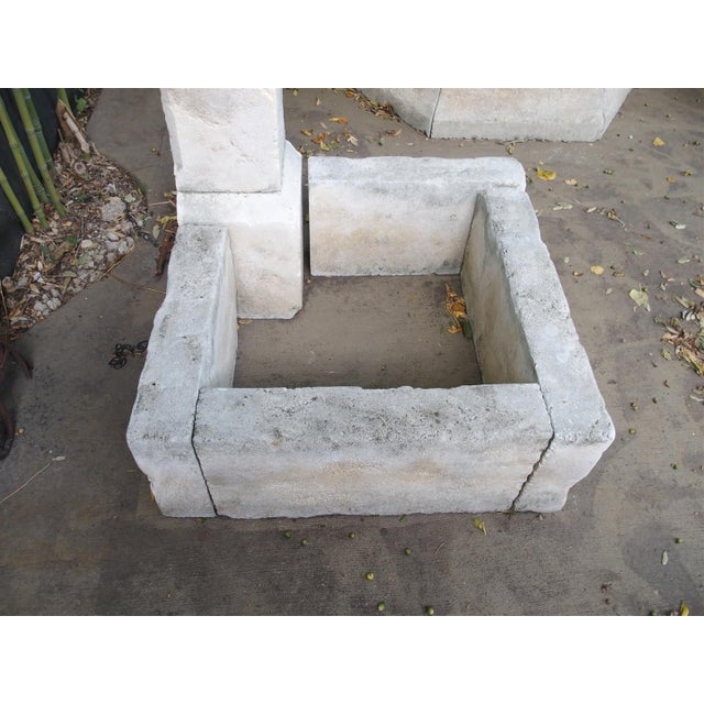Limestone Carved Limestone Corner Fountain from France For Sale - Image 7 of 9