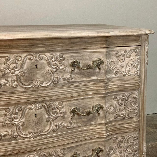 Antique Country French Whitewashed Oak Commode For Sale - Image 11 of 13
