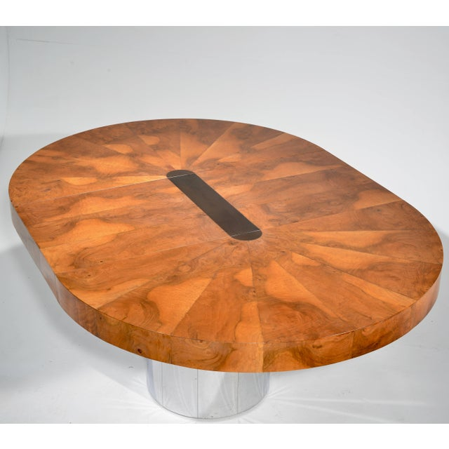 Brown Paul Evans Burl Wood Cityscape Dining Table For Sale - Image 8 of 11