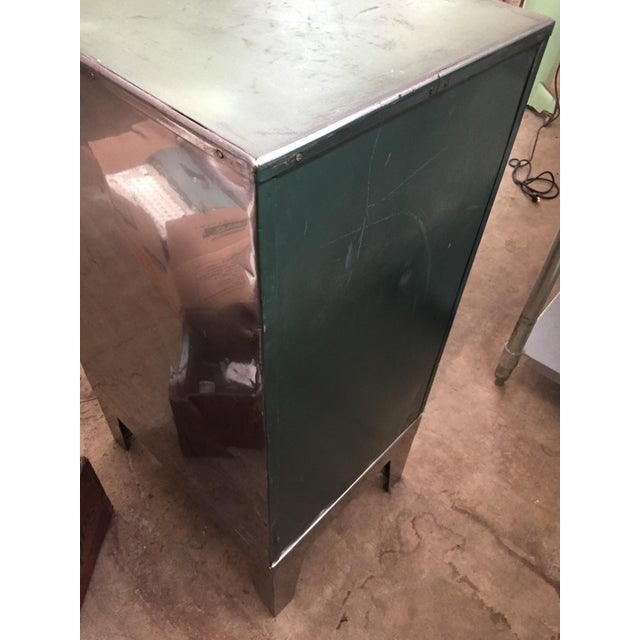 Vintage Mid-Century Metal Library Cabinet For Sale - Image 9 of 11