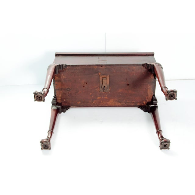A George II Mahogany Harlequin Table For Sale - Image 12 of 13