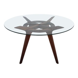 Adrian Pearsall Walnut Compass Dining Table