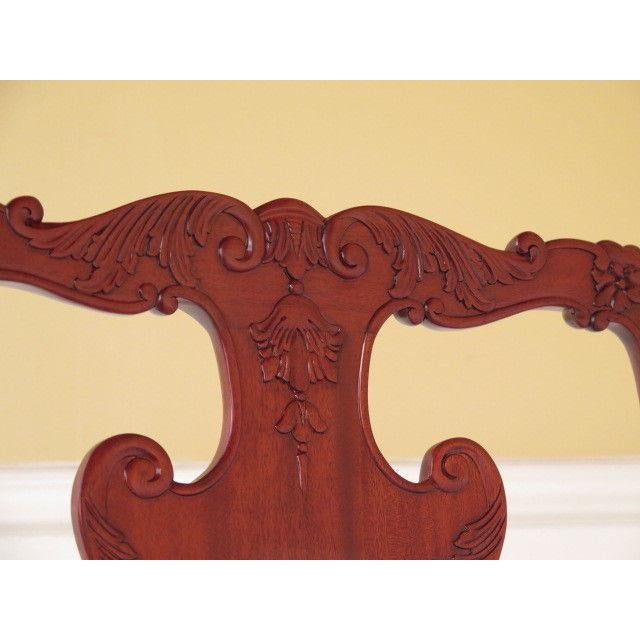 21st Century Georgian Mahogany Dining or Occasional Side Chairs- A Pair For Sale - Image 4 of 10