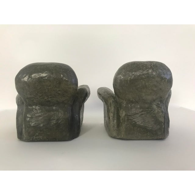 Ceramic Miniature Lounge Chair Ceramic Sculptures - a Pair For Sale - Image 7 of 10