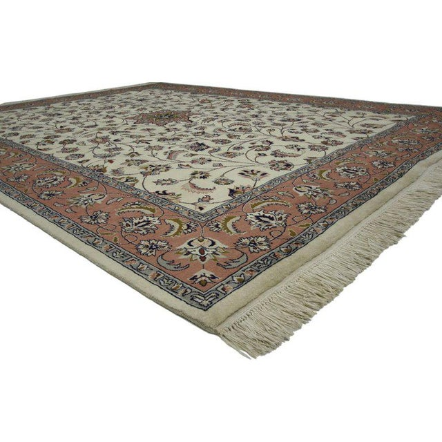 72032, a contemporary Persian style rug with traditional style. This hand-knotted wool gorgeous Persian style rug features...