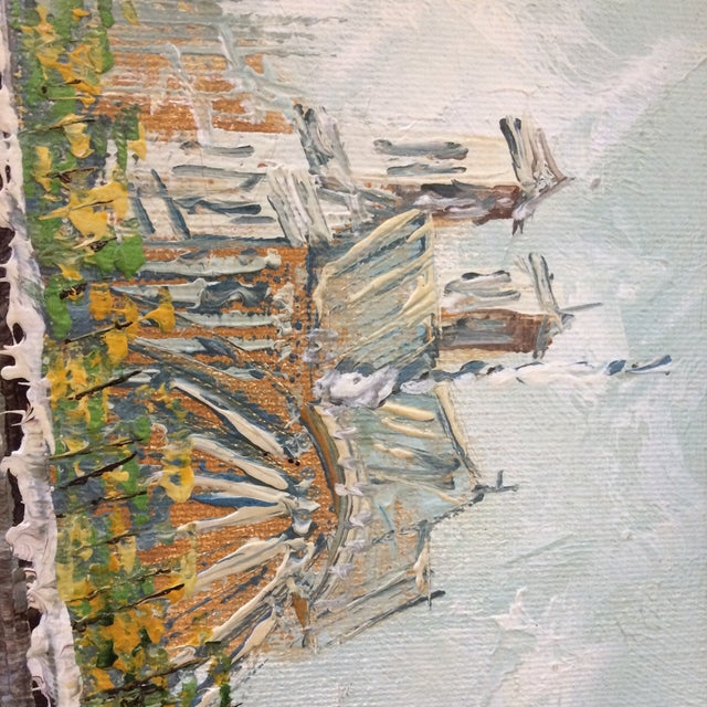 Notre Dame Oil on Canvas Board Painting For Sale - Image 9 of 10