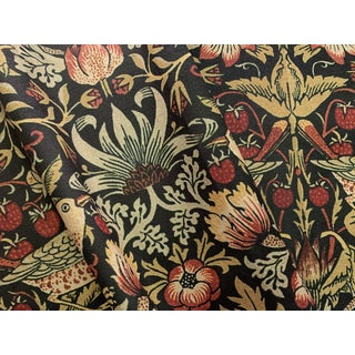 William Morris Strawberry Thief Fabric in Chocolate 1 Yard For Sale