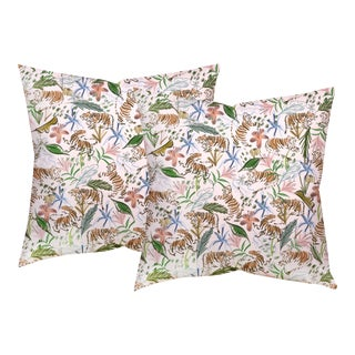 """Pepper Frida in Pink 22"""" Pillows - a Pair For Sale"""