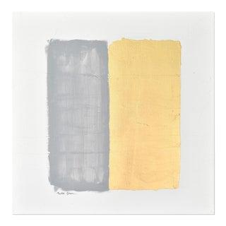 Gilded Bars No. 2 Dark Grey - Textural Painting 2020